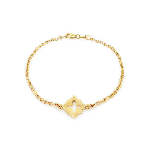 9kt Yellow Gold Embrasure Bracelet ,[product vendor],JewelStreet