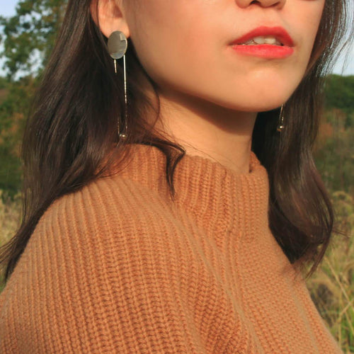 Mother Of Pearl Long Drop Earring