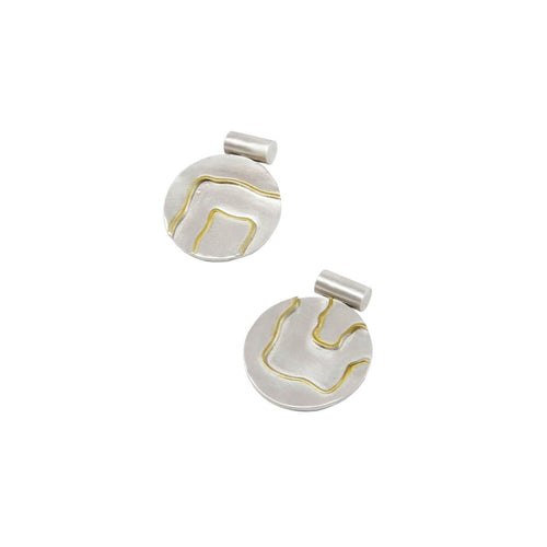 Fluid Pattern Statement Stud Earring