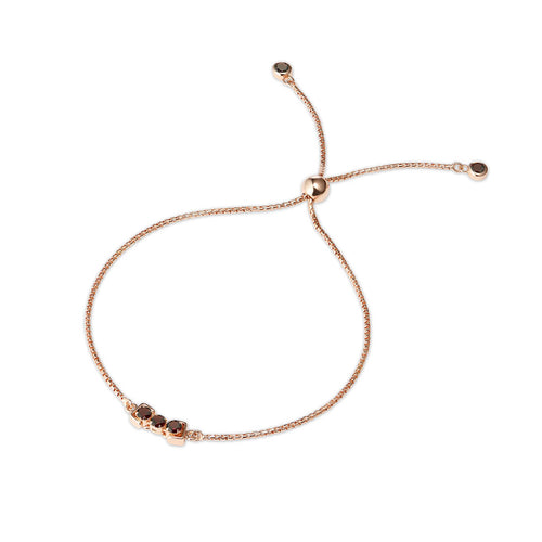18kt Rose Gold Vermeil San Shi Garnet Bracelet ,[product vendor],JewelStreet