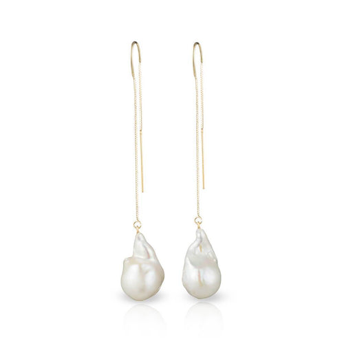14kt Gold Filled Baroque Freshwater Pearl Earrings ,[product vendor],JewelStreet