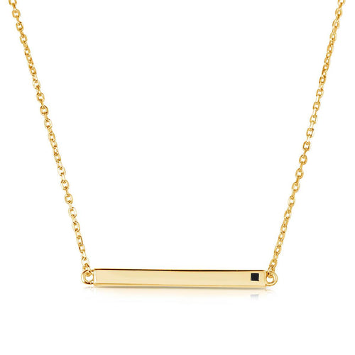 Linear Yellow Necklace