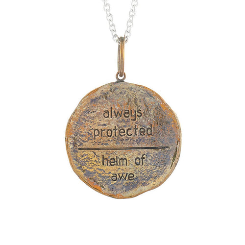 Bronze Always Protected Medallion Necklace