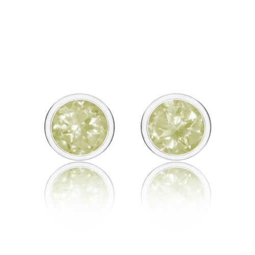 Sparkly Solo Studs With Lemon Quartz