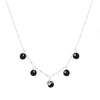 Sterling Silver, Black Spinel & Moonstone Breezy Necklace | INIZI