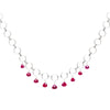 Sterling Silver & Ruby Breezy Circlets Necklace | INIZI