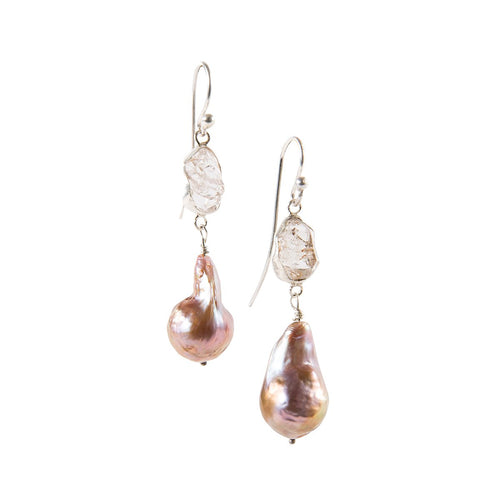 Pearl Dangle Earrings-India Mahon-JewelStreet US
