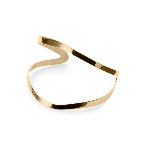 Indochine Cuff in Shiny Yellow Gold Plated-EKRIA-JewelStreet US
