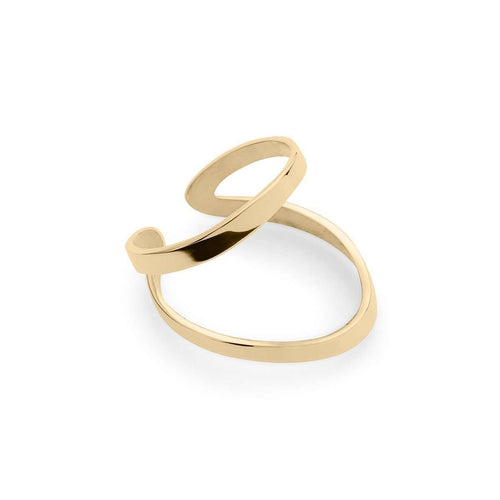 Indochine Ring in Shiny Yellow Gold Plated-EKRIA-JewelStreet US