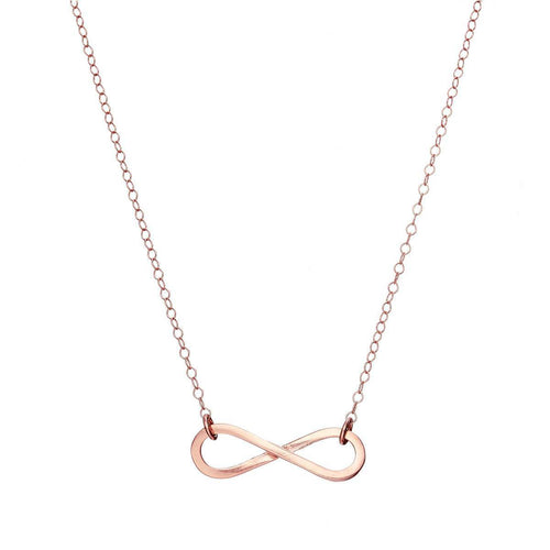 Rose Gold Plated Personalised Infinity Necklace