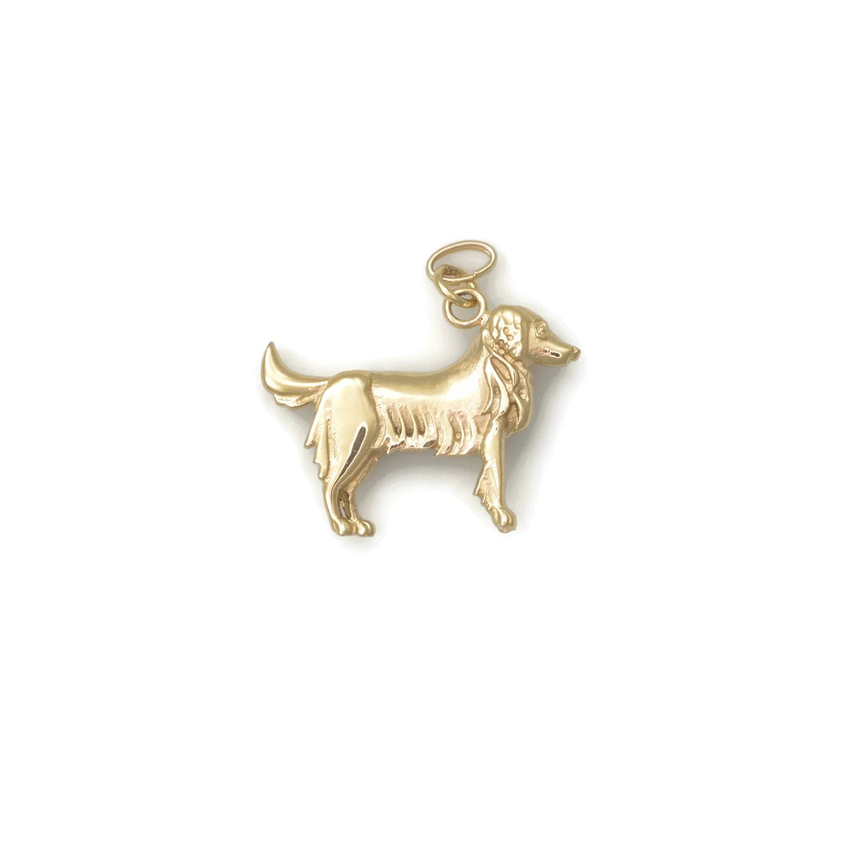 14kt Yellow Gold Golden Retriever Charm