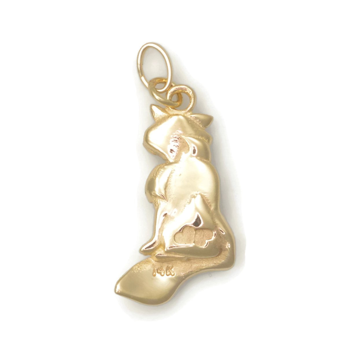 14kt Yellow Gold Persian Cat Charm