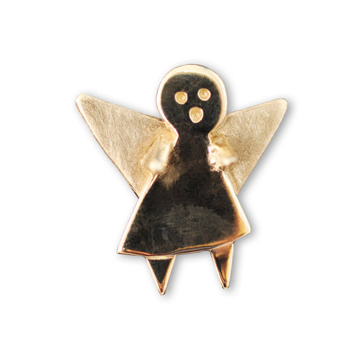 9kt Yellow Gold Guardian Angel Pin ,[product vendor],JewelStreet