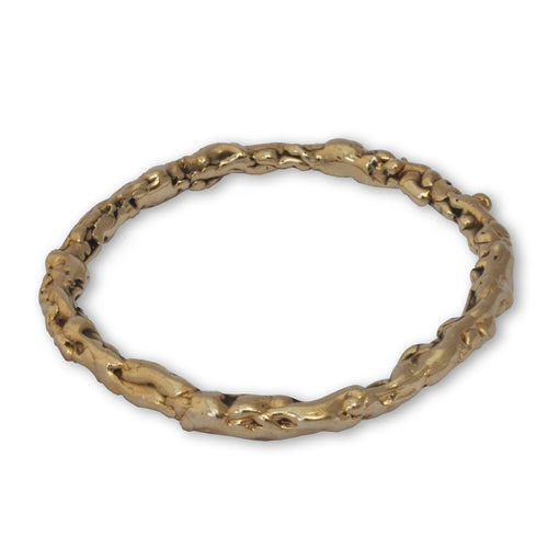 9kt Yellow Gold Molten Bangle ,[product vendor],JewelStreet
