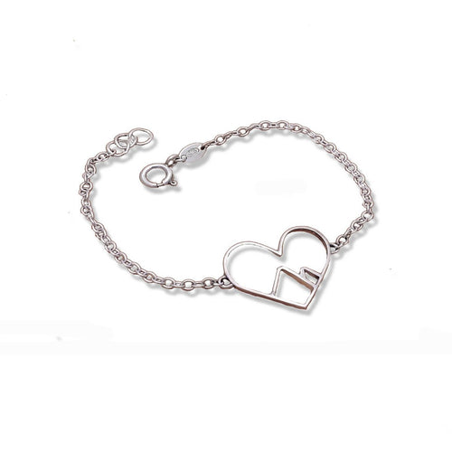 Sterling Silver Love The Mountains Bracelet