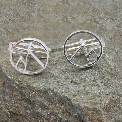 Circular Mountain Cufflinks