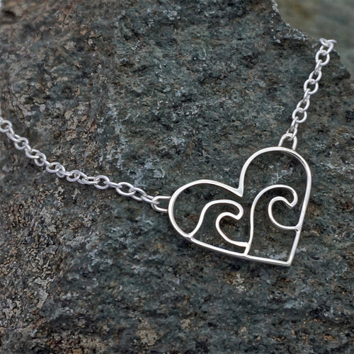 Sterling Silver Love The Ocean Necklace