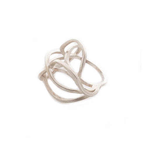 Sterling Silver Large Tangled Ring ,[product vendor],JewelStreet