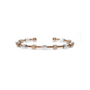 Laurel Rose Gold and Silver Two-Tone Bracelet-Chelsea Charles-JewelStreet US