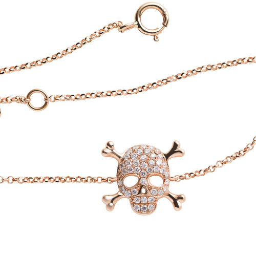 18kt Yellow Gold Skull Bracelet ,[product vendor],JewelStreet