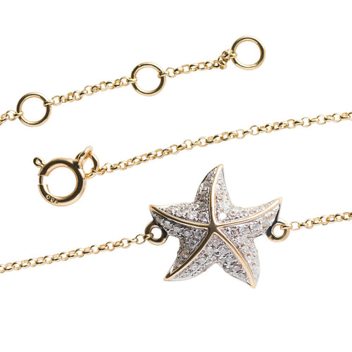 18kt Yellow Gold Starfish Bracelet ,[product vendor],JewelStreet