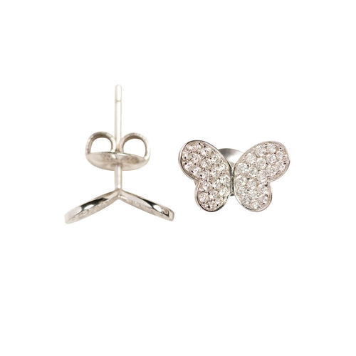 18kt White Gold Butterfly Earrings ,[product vendor],JewelStreet