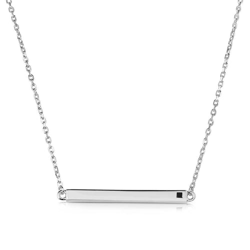 Linear White Necklace
