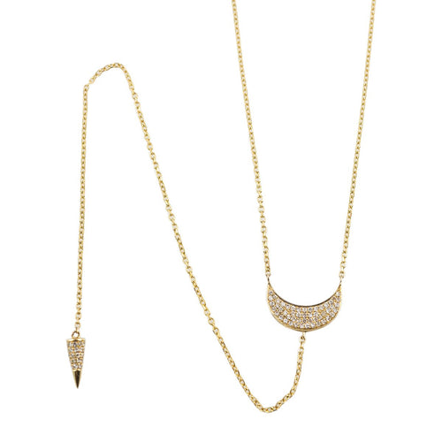 Luna Necklace 14kt Yellow Gold