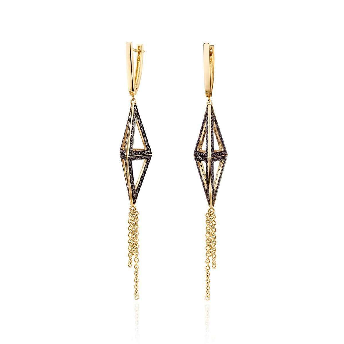 Maya Earrings Yellow Gold-Ayalla Joseph-JewelStreet US