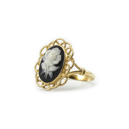 Mediterraneo Floral Cameo Ring