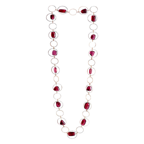 Harmony Geometric Necklace With Cubic Zirconia