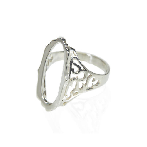 Sterling Silver Mirror Hollow Ring ,[product vendor],JewelStreet