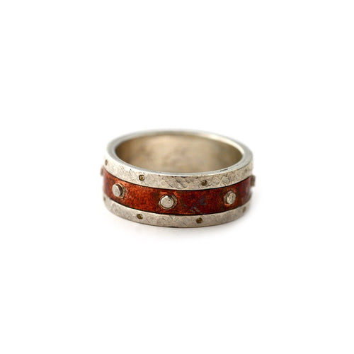 Sterling Silver & Copper Two Metal Band ,[product vendor],JewelStreet