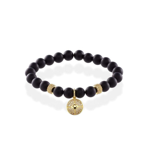 Shield Onyx Bracelet With 18kt Gold-MARCOS DE ANDRADE-JewelStreet US