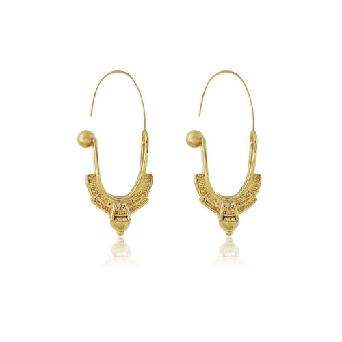 14kt Gold Plated Mela Earrings ,[product vendor],JewelStreet