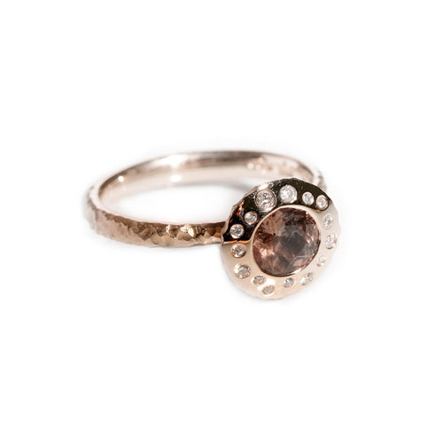 9kt Rose Gold Meteor Ring ,[product vendor],JewelStreet