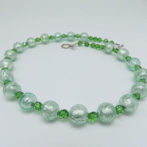 Murano Glass Bead Green Paradise Necklace ,[product vendor],JewelStreet
