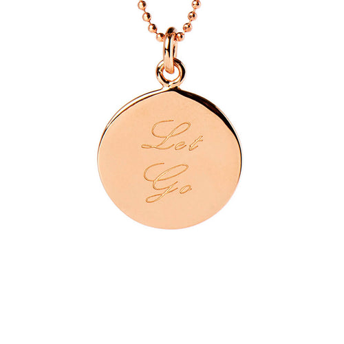 Rose Gold Plated Let Go Disc Necklace ,[product vendor],JewelStreet