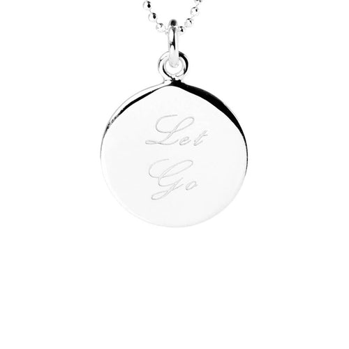 Sterling Silver Let Go Disc Necklace ,[product vendor],JewelStreet