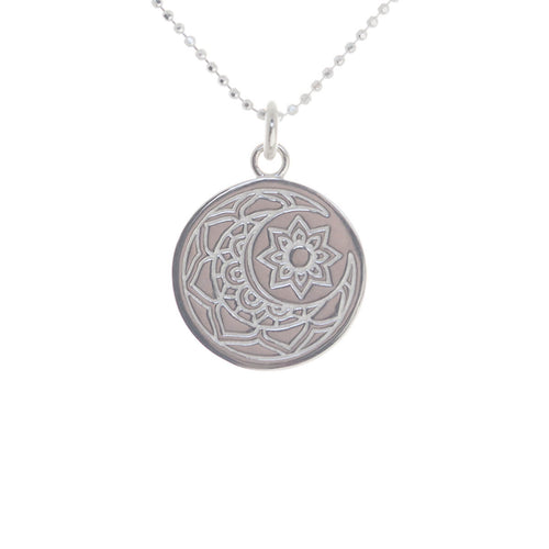 Sterling Silver Moon & Sun Disc Necklace ,[product vendor],JewelStreet