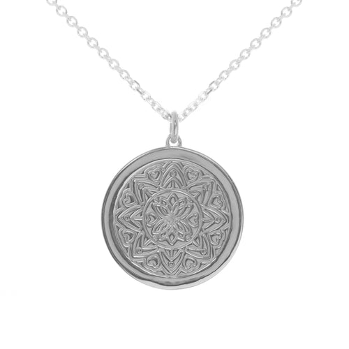 Sterling Silver Love Mandala myMantra Pendant ,[product vendor],JewelStreet