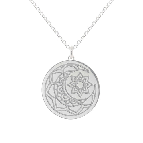 Sterling Silver Moon & Sun myMantra Pendant ,[product vendor],JewelStreet