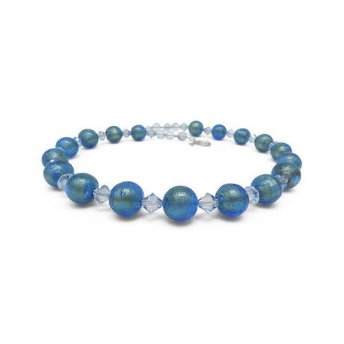 Murano Glass Bead Ocean Beauty Necklace  ,[product vendor],JewelStreet