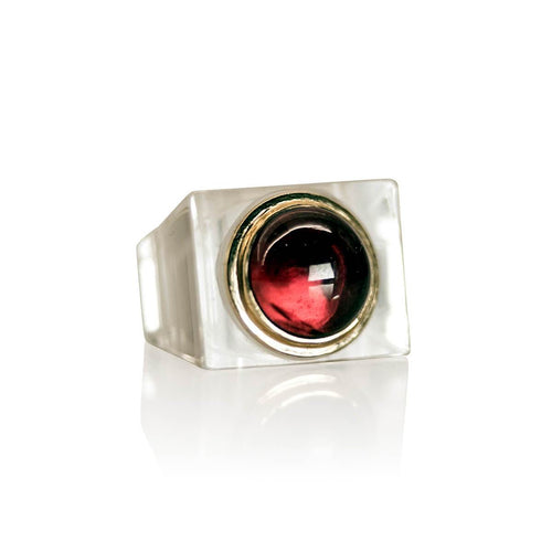 Six On The Rocks Ring - Almandine Garnet