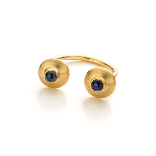 Pure Line Ring In Gold And Iolite