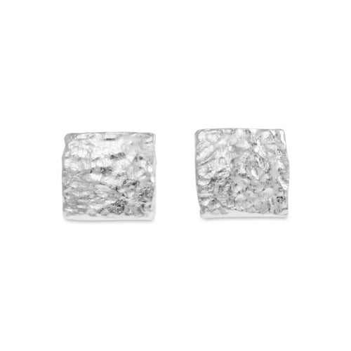 Sterling Silver Planar Stud Earrings | Paul Magen