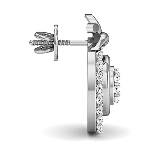 Handmade 18kt White Gold and Diamond EarringsInspired by Nature-Diamoire Jewels-JewelStreet US