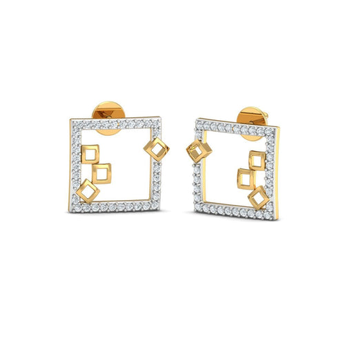 18kt Yellow Gold 0.18ct Pave Diamond Infinity Earrings III