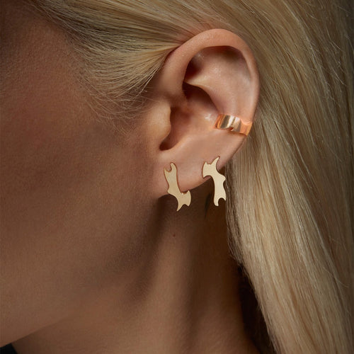 Puzzle Earring and Cuff Set-Two of Most-JewelStreet US