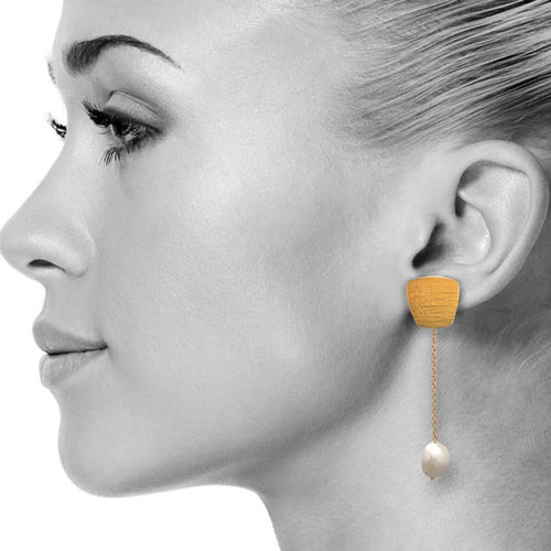 Yellow Gold Plated Patra Earrings ,[product vendor],JewelStreet